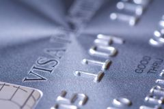 Plastic credit card Royalty Free Stock Photos