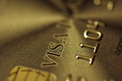 Plastic credit card Royalty Free Stock Images