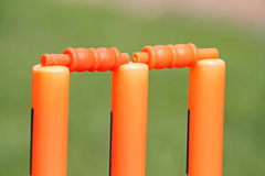 Plastic cricket wickets Royalty Free Stock Photography