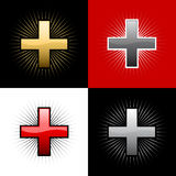 Plastic crosses Stock Image