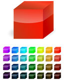 Plastic cube. Isolated on white Royalty Free Stock Images