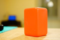 Plastic cube Stock Images