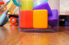 Plastic cubes Royalty Free Stock Images