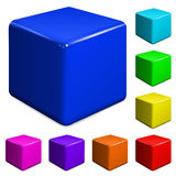 Plastic cubes. Set of multicolored plastic cubes Stock Image