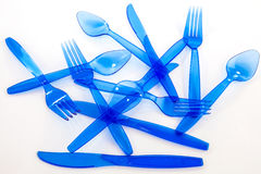 Plastic cultlery Royalty-vrije Stock Afbeeldingen