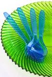 Plastic cultlery Royalty-vrije Stock Fotografie