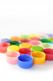 Plastic cup. Background composition of color plastic cap royalty free stock image