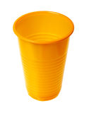 Plastic cup. Isolated on a white background Stock Photos