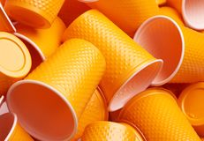 Plastic cup close-up - Environmental problem. Concept royalty free stock photos