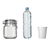 Plastic cup of coffee drink lar bottle  beverage Royalty Free Stock Photo
