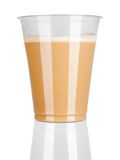 Plastic cup of coffee with froth Royalty Free Stock Images