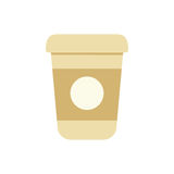 plastic cup coffee portable Royalty Free Stock Photos