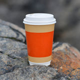 Plastic cup coffee Royalty Free Stock Image