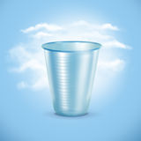 Plastic Cup. Concept with green arrows from the grass. Recycling concept Stock Photography