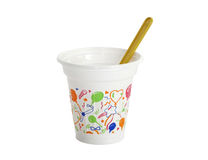 Plastic cup. Royalty Free Stock Photo