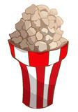 Plastic Cup Full of Fresh Popcorn. Royalty Free Stock Images