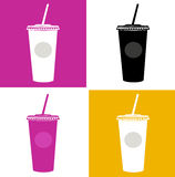 Plastic cup / glass icons - pop art Stock Photography