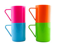 Plastic cup isolate on white background Stock Photography