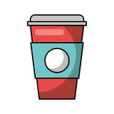 Plastic cup isolated icon. Vector illustration design Stock Photography