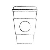 Plastic cup isolated icon Stock Images