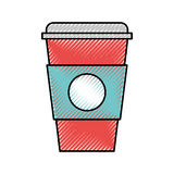 Plastic cup isolated icon. Vector illustration design Royalty Free Stock Photography