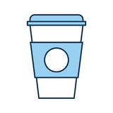 Plastic cup isolated icon. Vector illustration design Royalty Free Stock Images