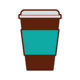 Plastic cup isolated icon. Vector illustration design Stock Image