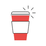 Plastic cup isolated icon. Vector illustration design Stock Images