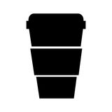 Plastic cup isolated icon Royalty Free Stock Photo