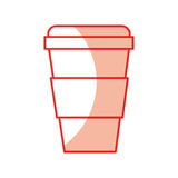 Plastic cup isolated icon Stock Photography