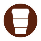 Plastic cup isolated icon. Vector illustration design Stock Photo