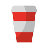 Plastic cup isolated icon Royalty Free Stock Photos
