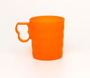 Plastic cup isolated. On a white background royalty free stock photography
