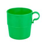 Plastic cup isolated on white with clipping path. Green plastic cup isolated on white background royalty free stock photos