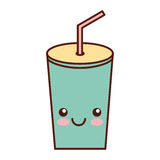 Plastic cup kawaii character. Vector illustration design Royalty Free Stock Image