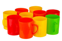 Plastic cup Stock Images