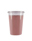Plastic cup orange juice Royalty Free Stock Photos