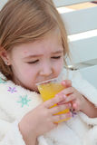 Plastic cup with orange juice Royalty Free Stock Image