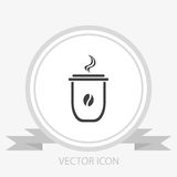 Plastic cup or paper cup vector icon Royalty Free Stock Photos