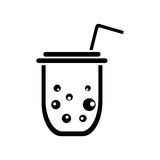 Plastic cup or paper cup vector icon Stock Photos