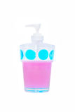 Plastic cup  pump for liquid soap Stock Photography