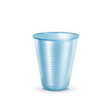 Plastic Cup. Recycling concept, isolation on white Stock Image
