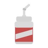 Plastic cup soda straw drink cinema movie Royalty Free Stock Photos