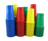 Plastic cups Stock Images