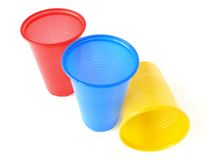 Plastic cups Stock Photo