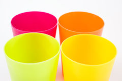 Plastic cups Royalty Free Stock Photos