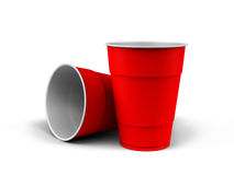 Plastic Cups. A render of generic plastic cups on white background Stock Photography