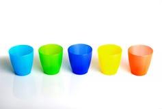 Plastic cups Stock Photos