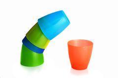 Plastic cups Royalty Free Stock Photography