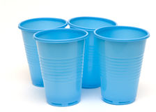 Plastic cups Royalty Free Stock Image